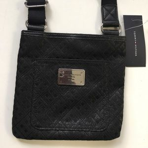 NWT  Tommy Hilfiger cross body canvas bag